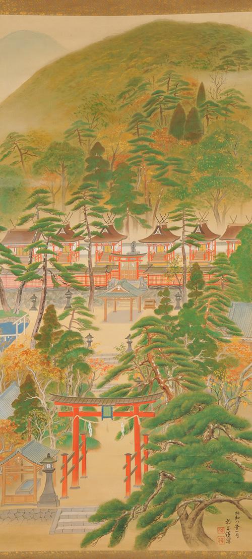 宝来山神社境内図